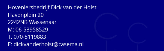 Dick van der Holst Hovenier